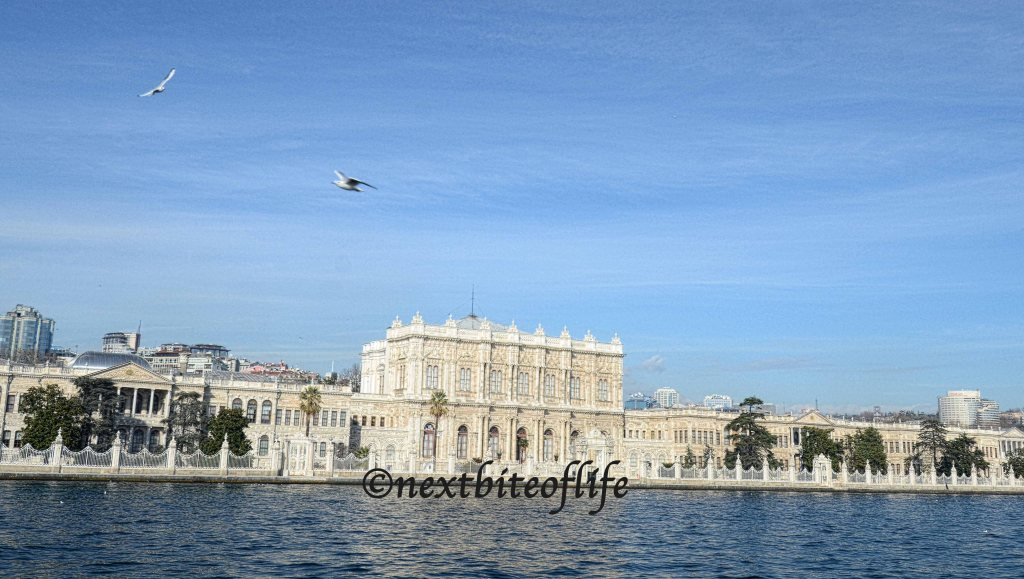 view of dolmabahce palace istanbul