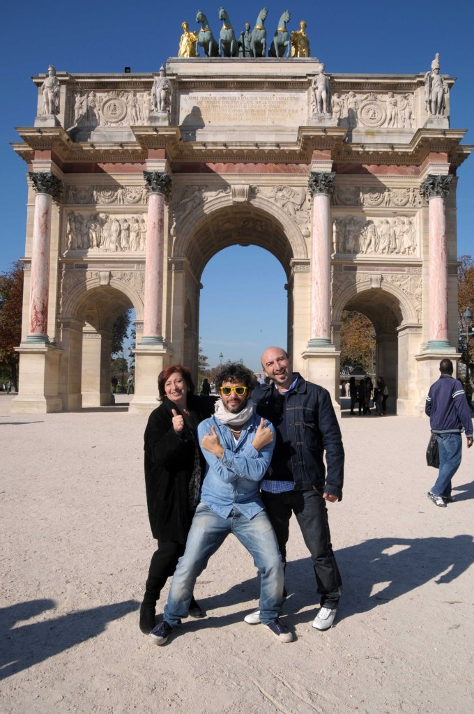 paris with mom and son and friend