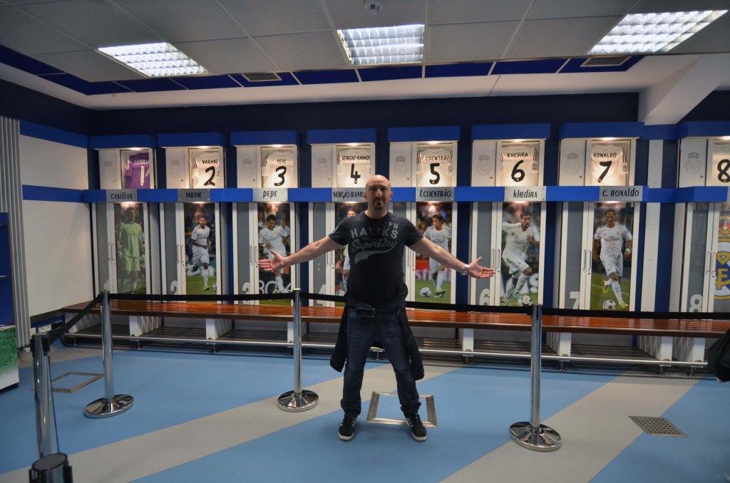 locker room of Ronaldo, Bale et al. at ssantiago bernabeu madrid