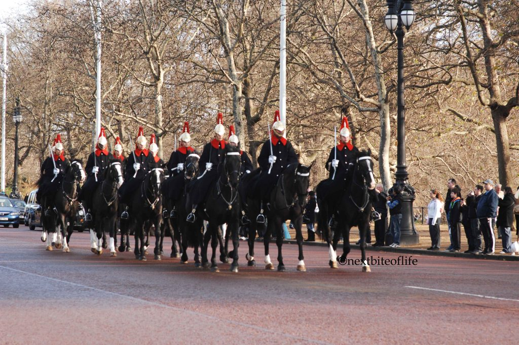 horse guards bucking ham palace