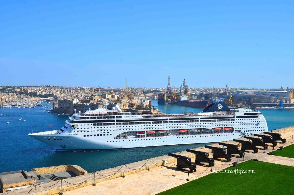 valletta cruise ship at the valletta harbor