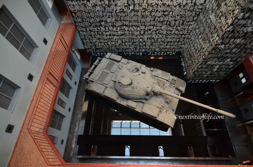 war tank budapest house of terror museum