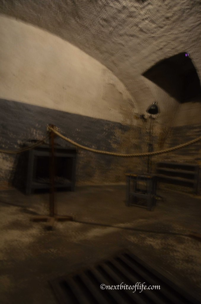 One of the rooms in the cellar at house of terror