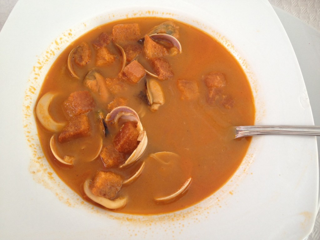 Yummy seafood soup