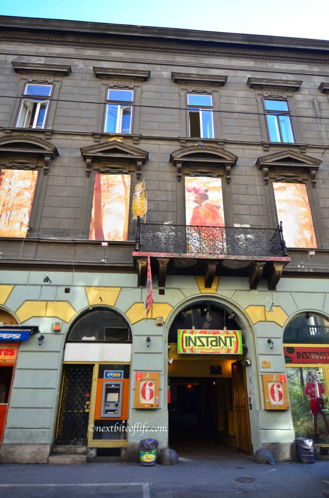 Current most popular ruin pub in Budapest. It was humongous..and walking distance..