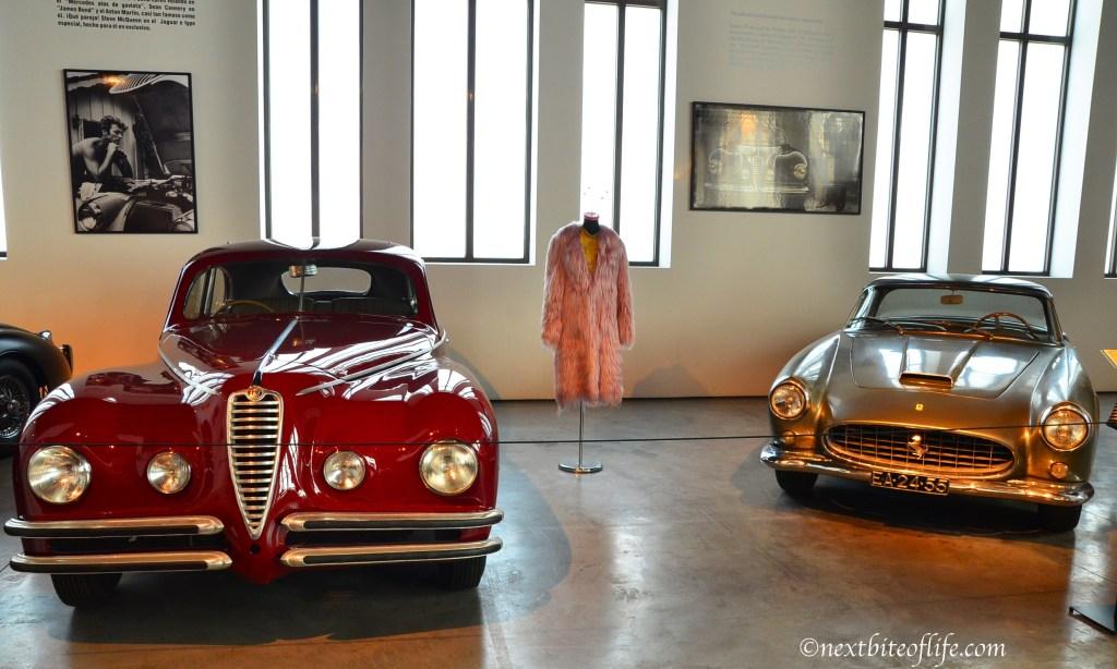 sports cars at auto museum Malaga