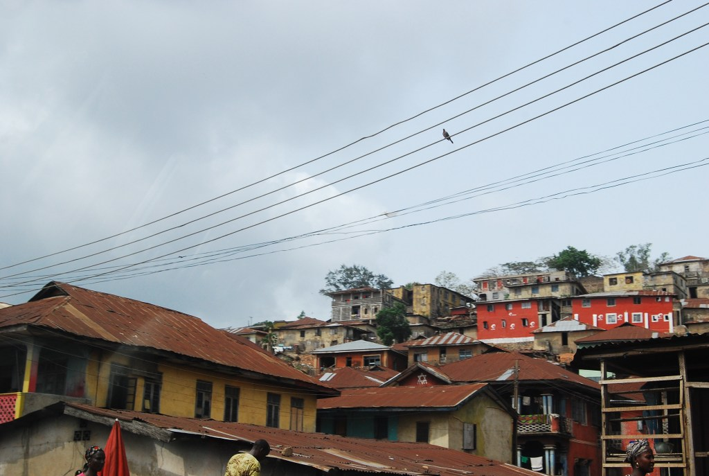 image of rooftops and house ibadan nigeria