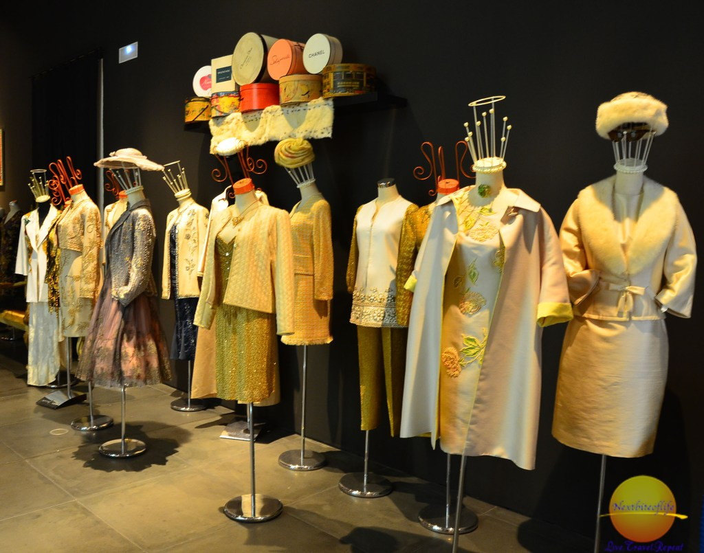row of dresses at fashion museum malaga spain