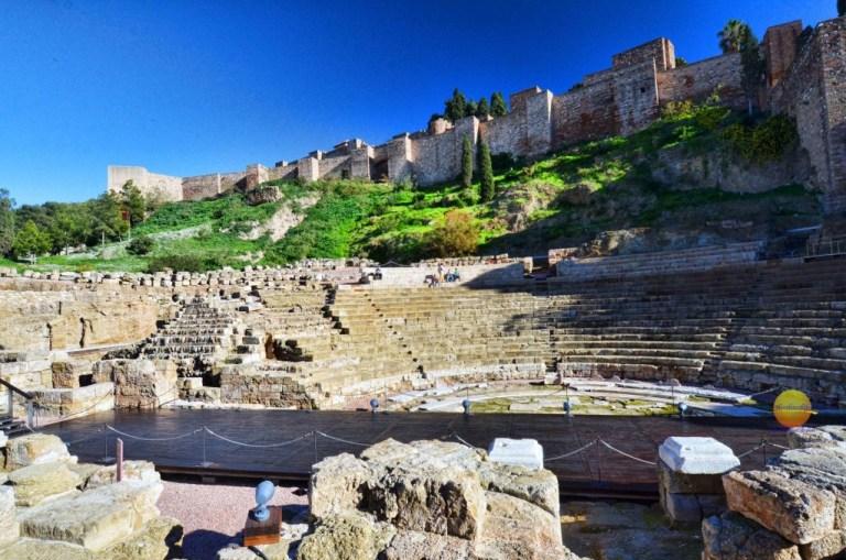 Alcazaba and Teatro Romano, Malaga, Spain