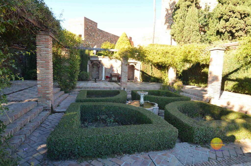 roman garden at alcazaba malaga