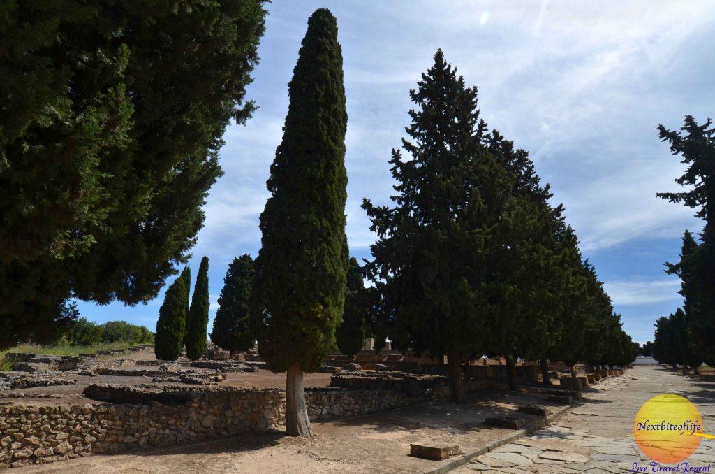 street in Italica Santiponce ruins