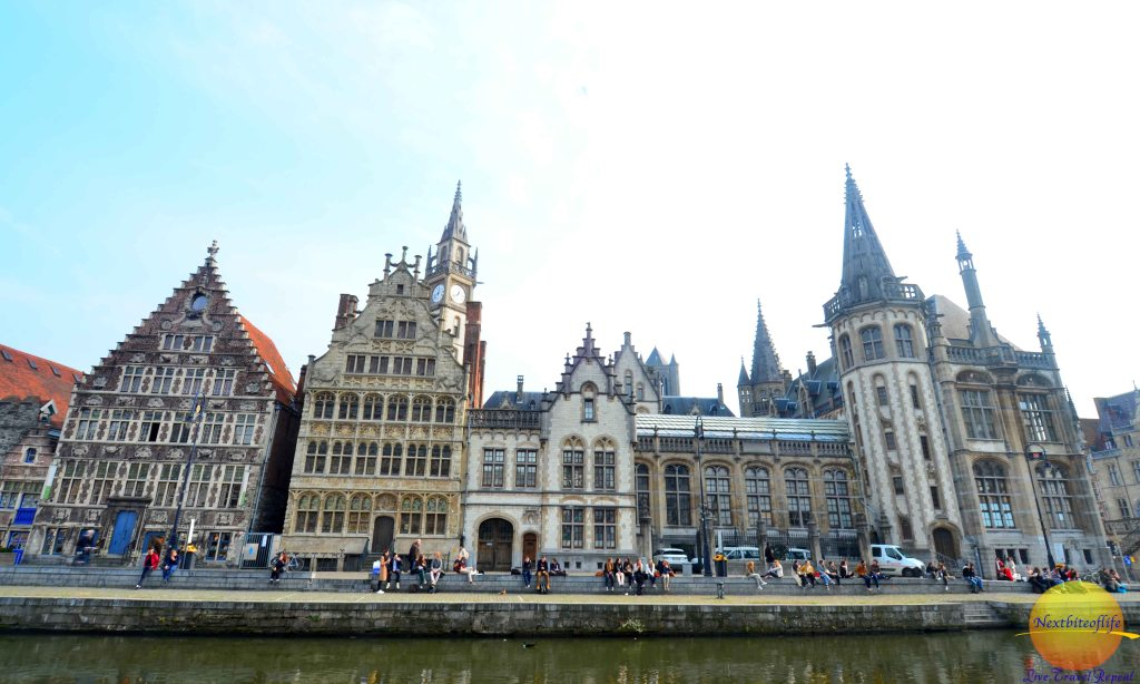 Ghent view of water and buildings