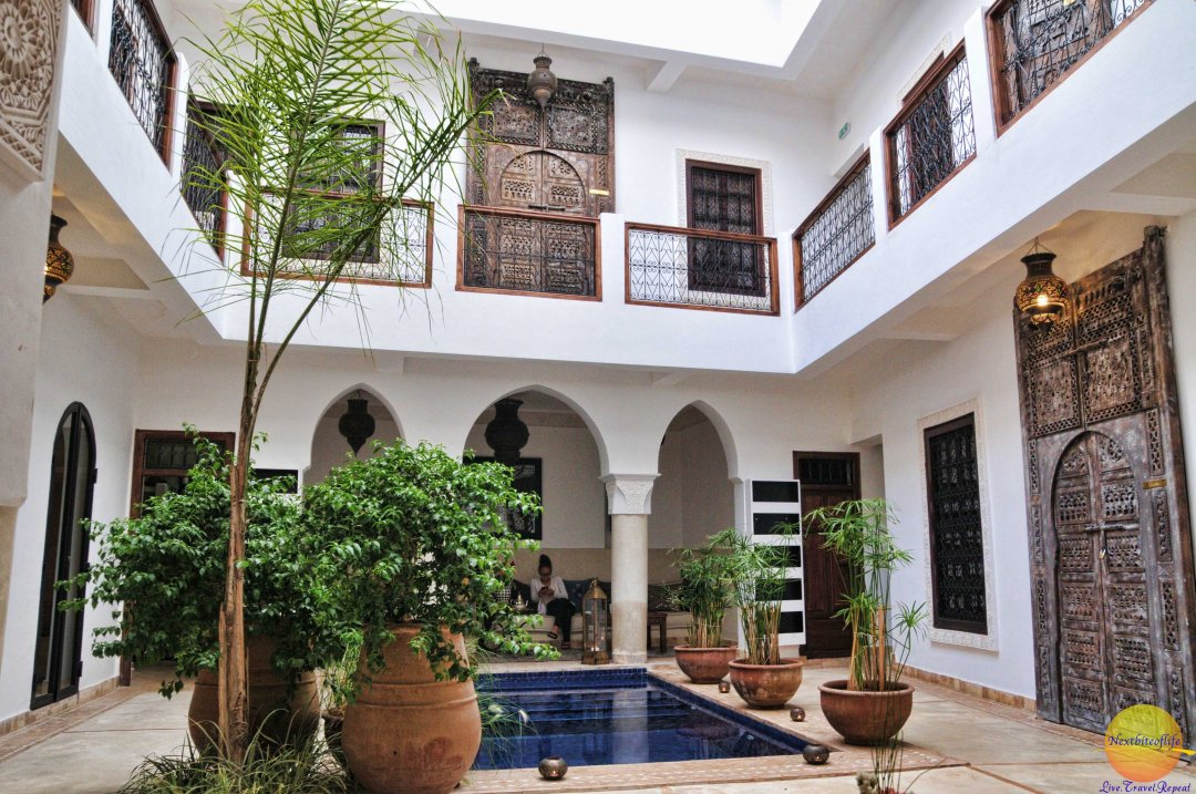 Our Riad - small and cosy, just perfect.
