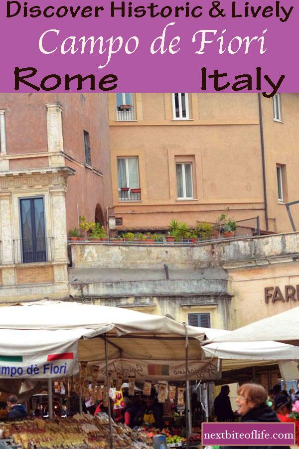 Campo de Fiori Rome Guide #campodefiori #rome #italy #market #romeguide #romeitinerary
