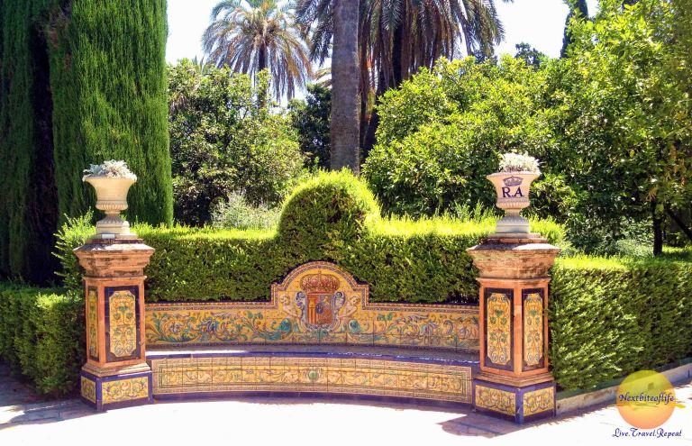 alcazar bench garden