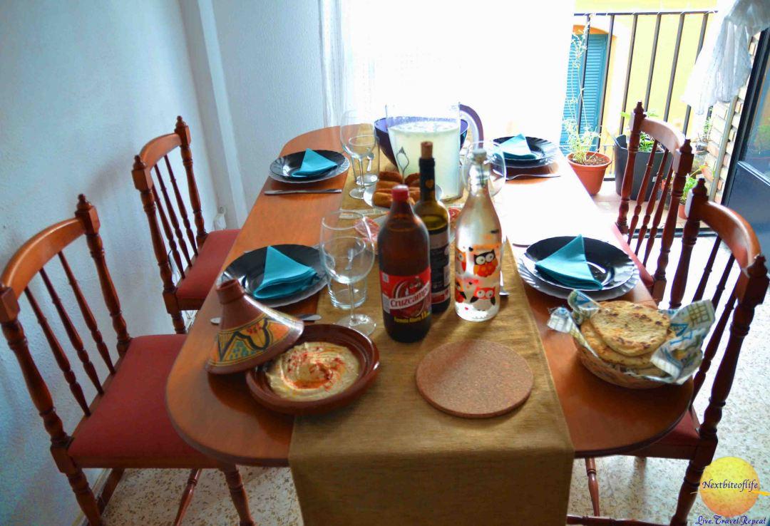 Lovely setting for our dinner.