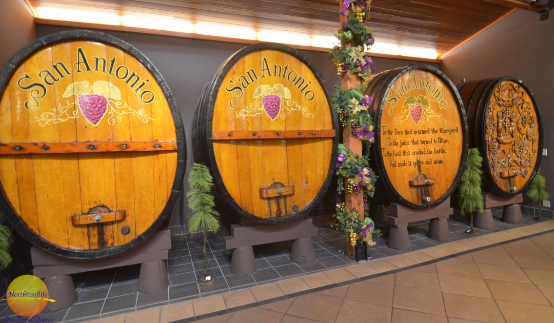 San Antonio winery barrels