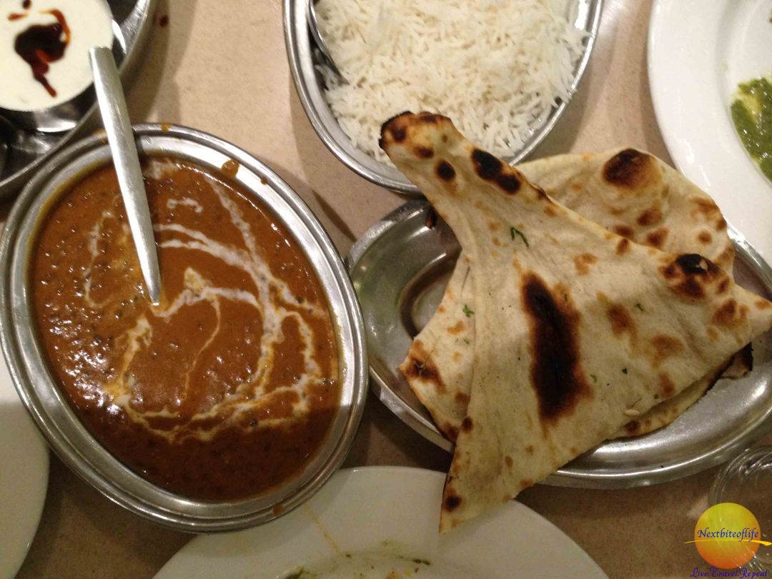 The infamous Dal Nakhani, Nan and basmatti rice.. oh yeah!