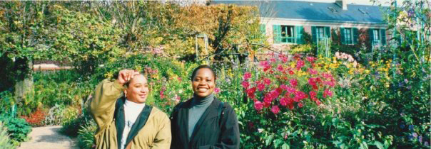 Zoe took this picture! We were in Monet's garden in Giverny.