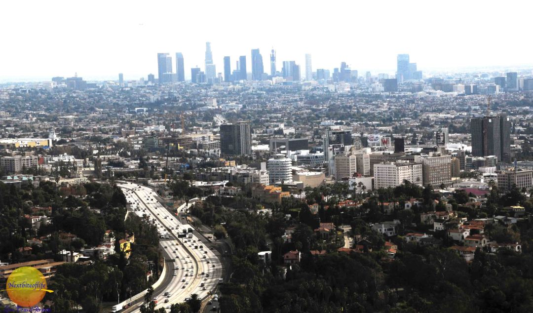 view of the los angeles basin from mulholland drive.