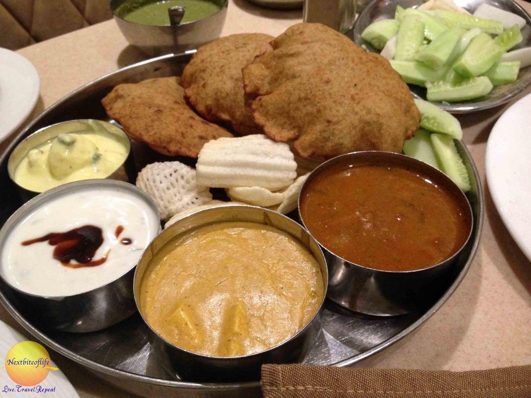 havemore restaurant, Navratra thali platter