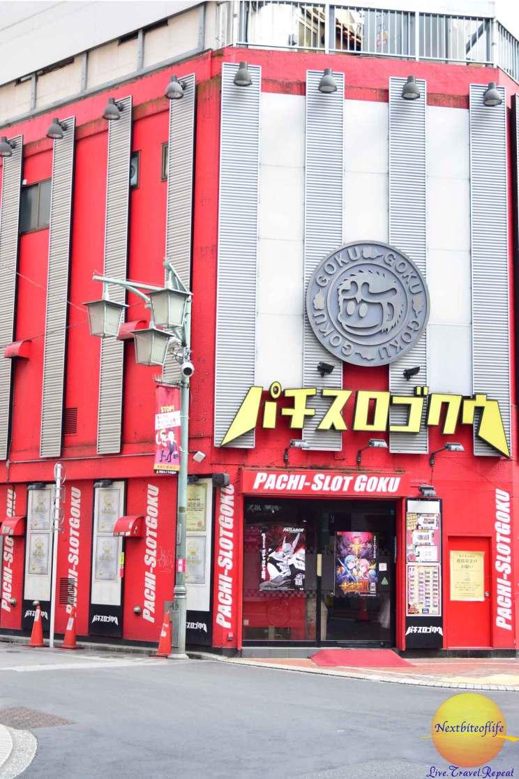 tokyo, japan pachinko gambling house