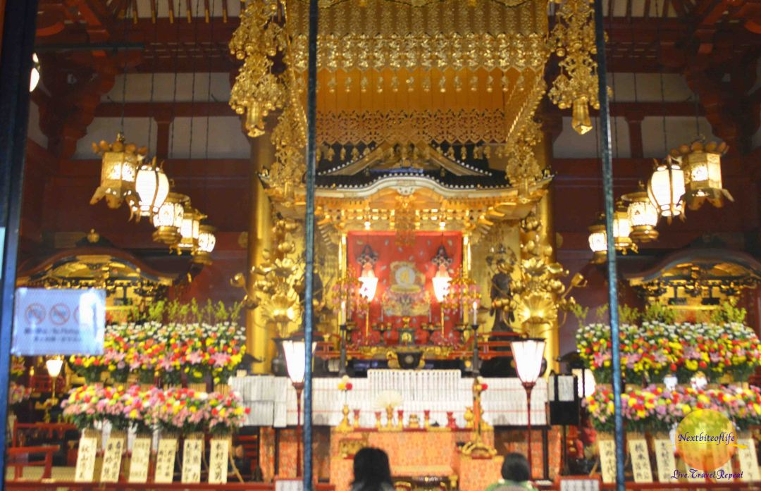 Inside the Kannon-do Hall