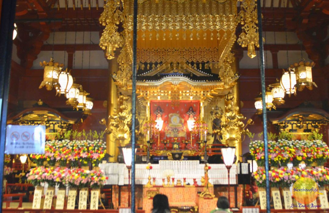 Inside the Kannon-do Hall Asakusa