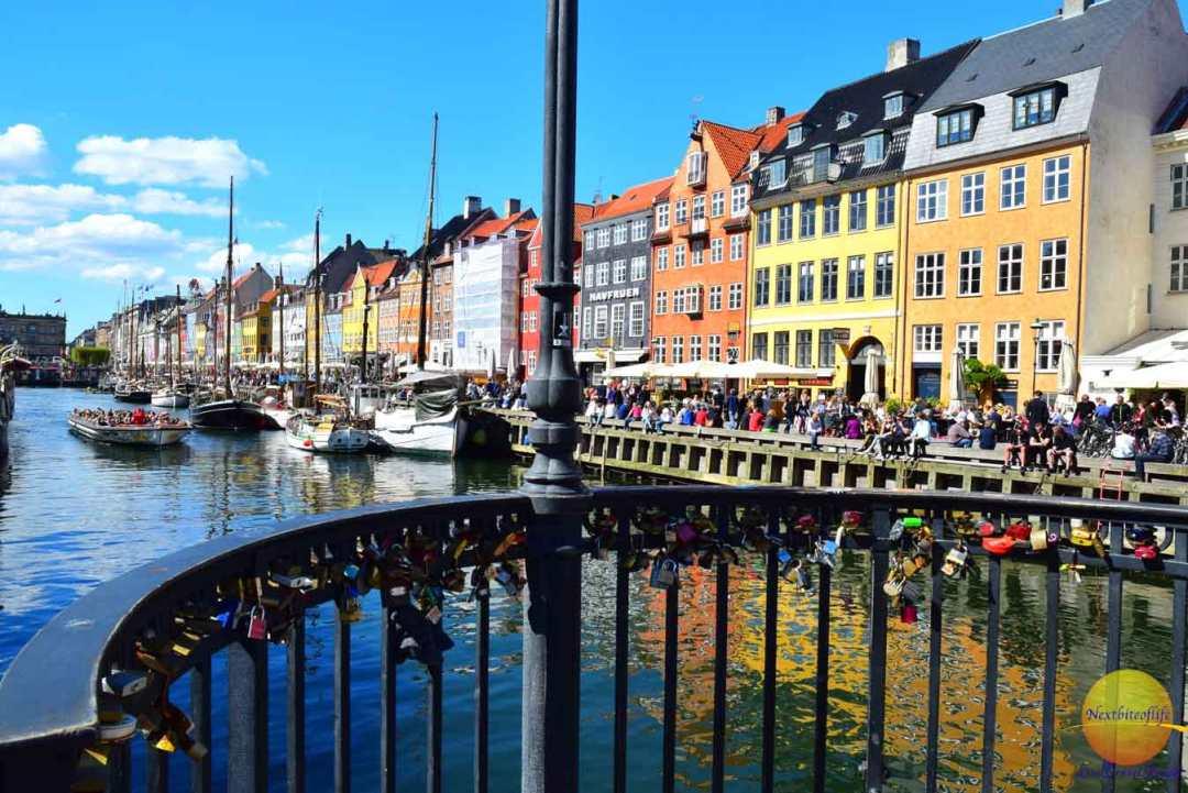 delightful copenhagen love locks nyhavn