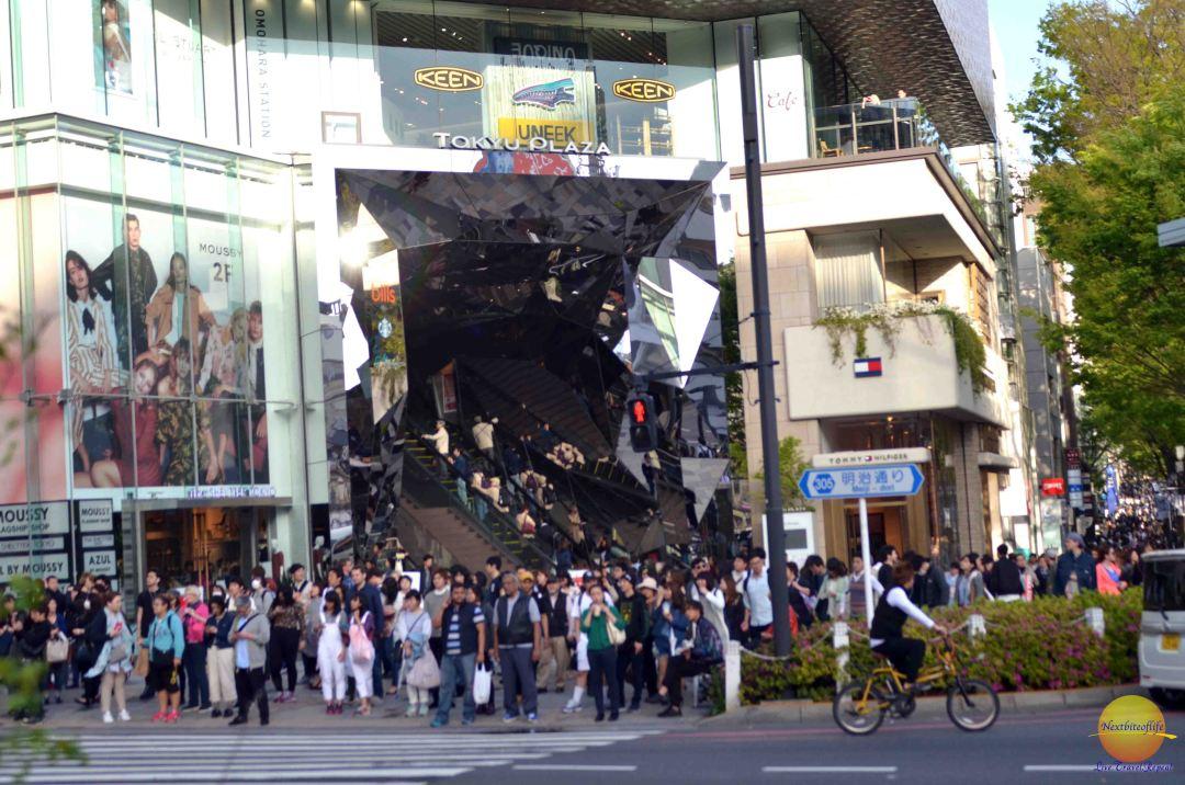 shibuya district harajuku street scene
