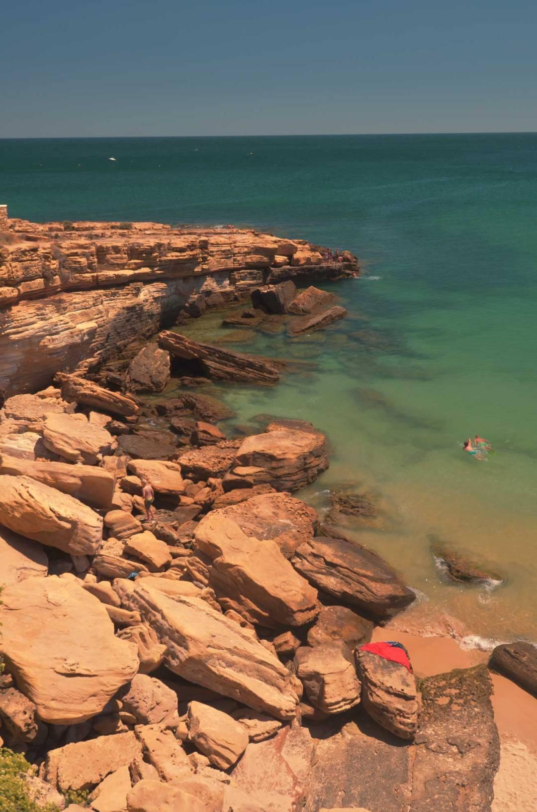 lagos portugal rocky beach