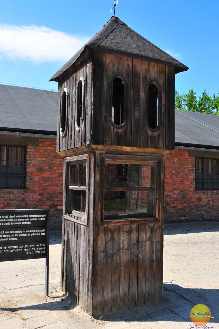auschwitz tower to count prisoners