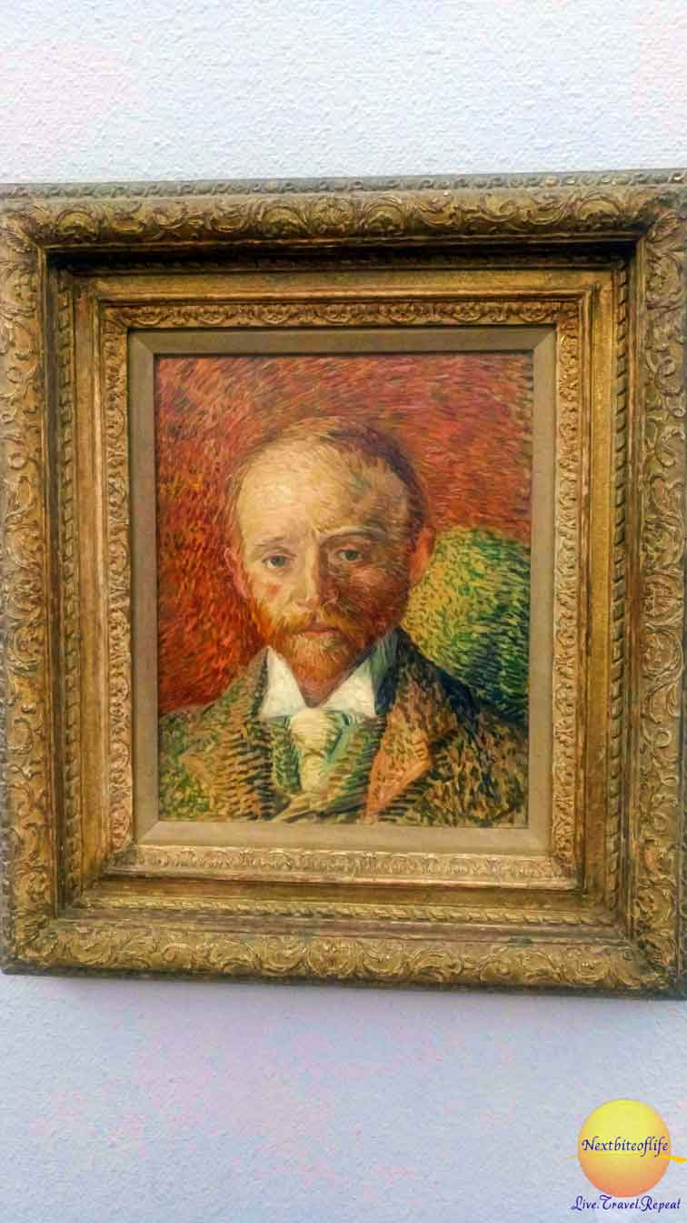 portrait of roomate by van gogh