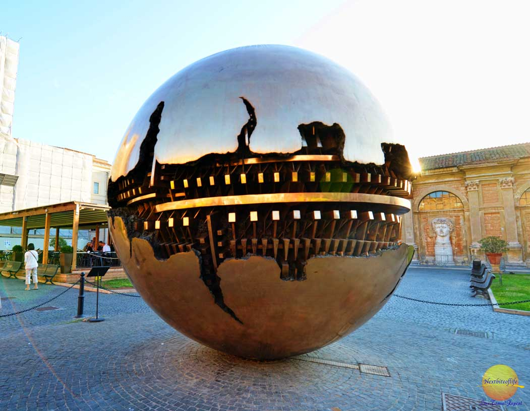 arnaldo pomodoro sphere within sphere