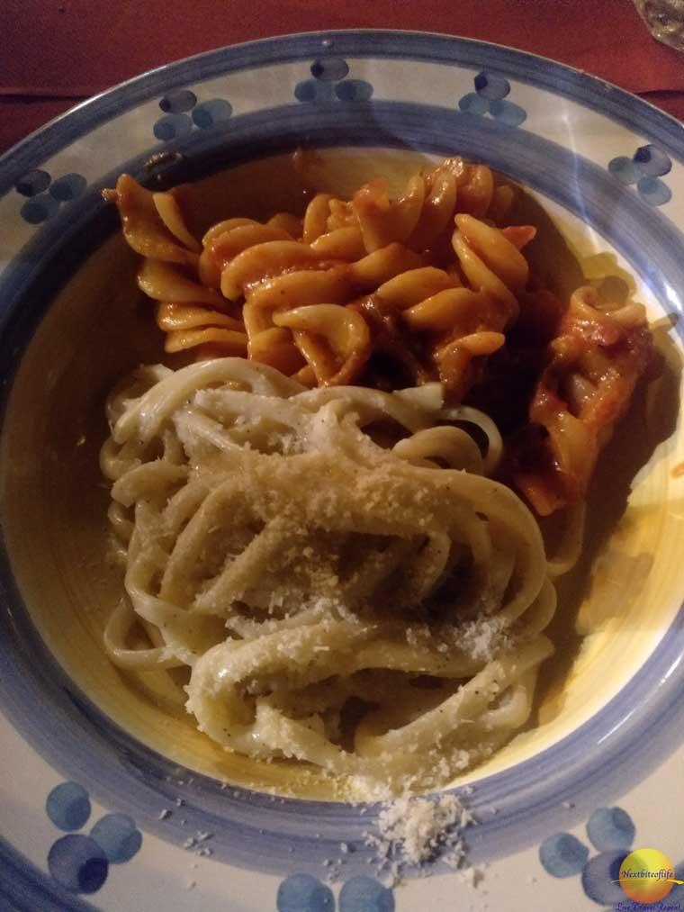 pasta sampler rome italy