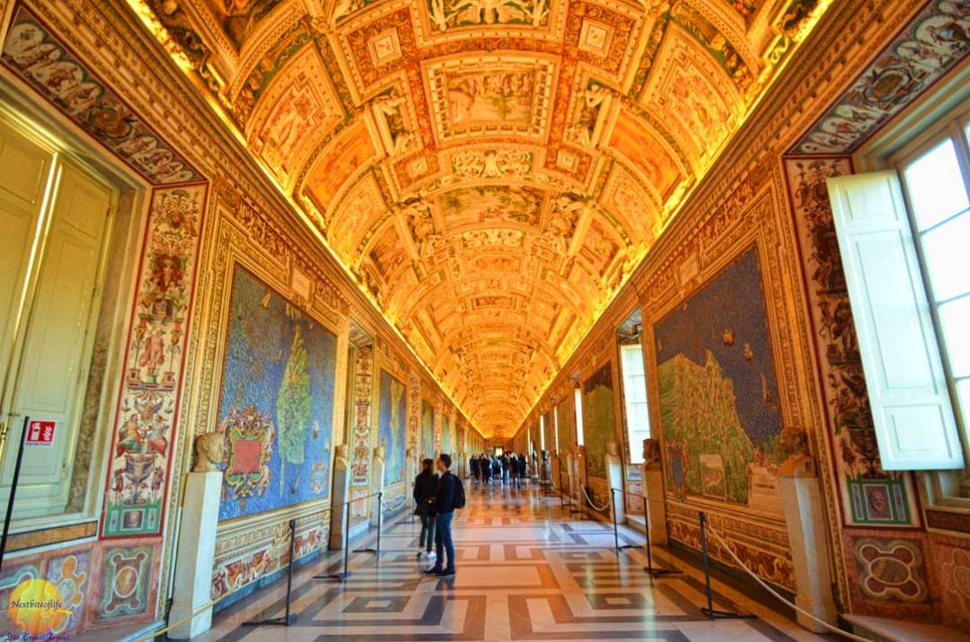 gallery of maps in the vatican