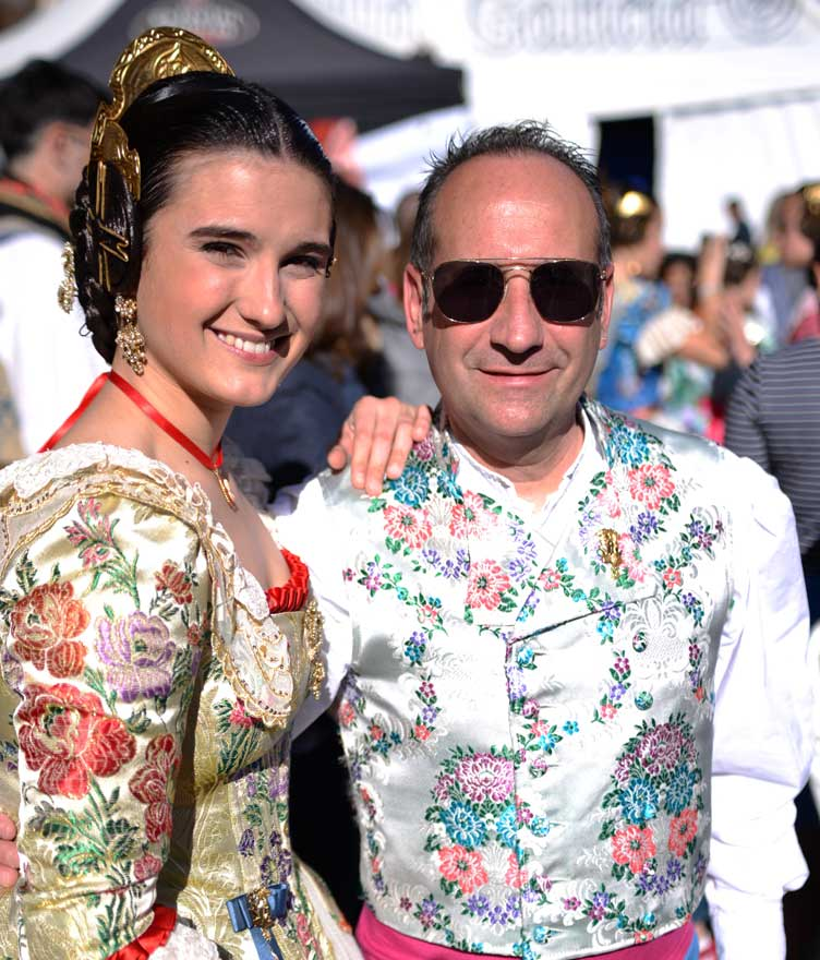 traditional outfitted couple for fallas valencia