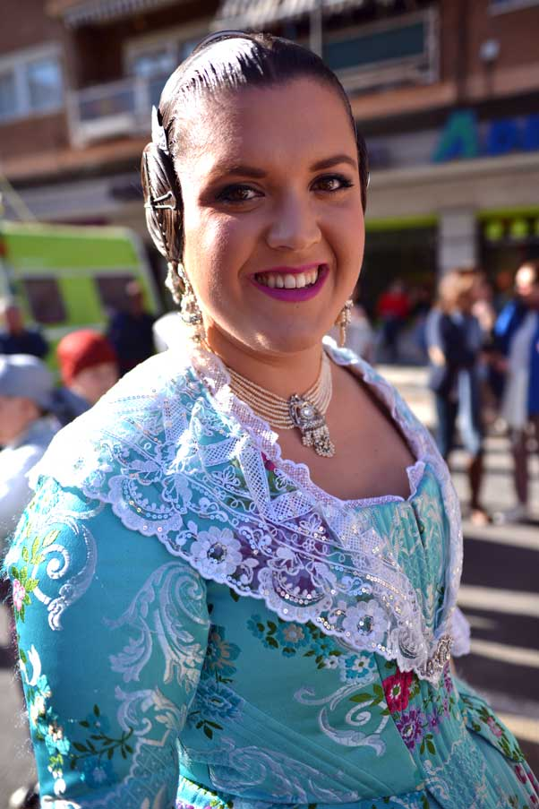 lady in traditional spanish wear for fiesta
