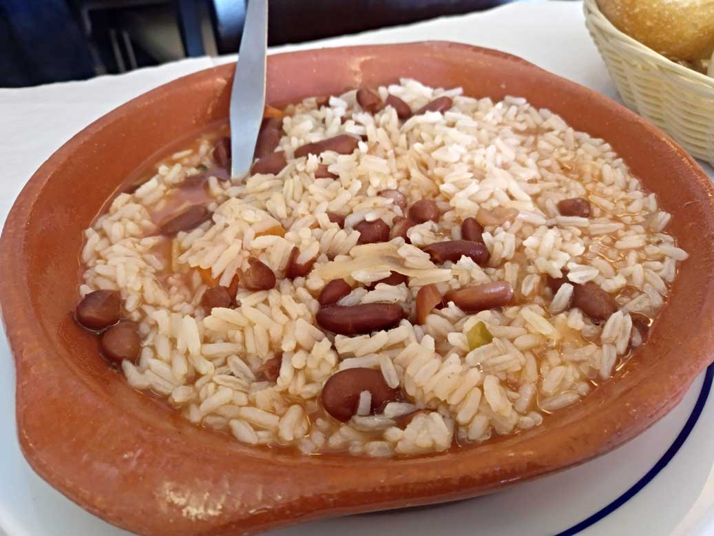 rice and beans plate