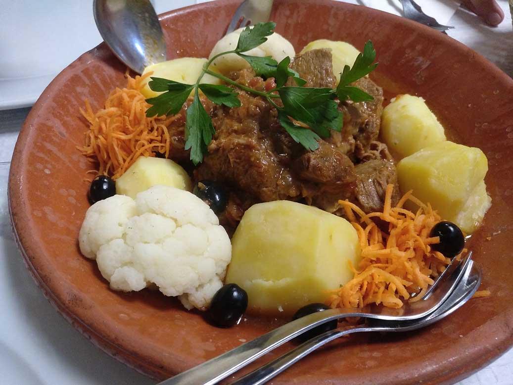 stewed beef plate