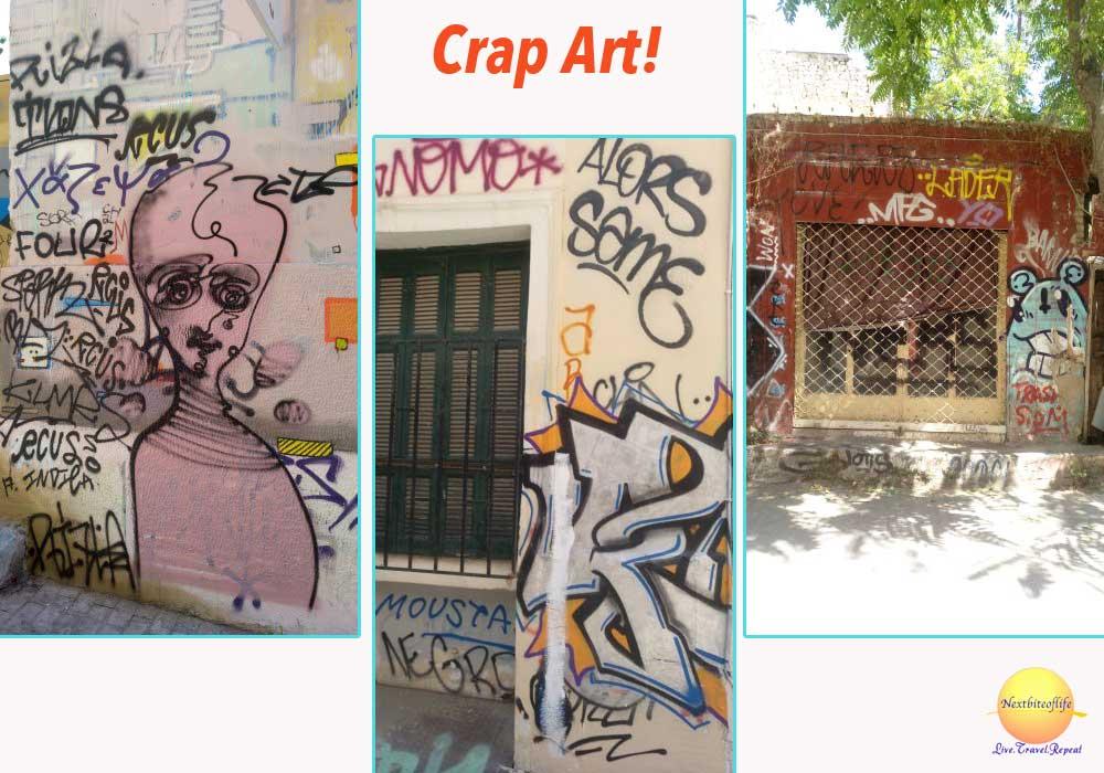 bad graffitti in athens greece