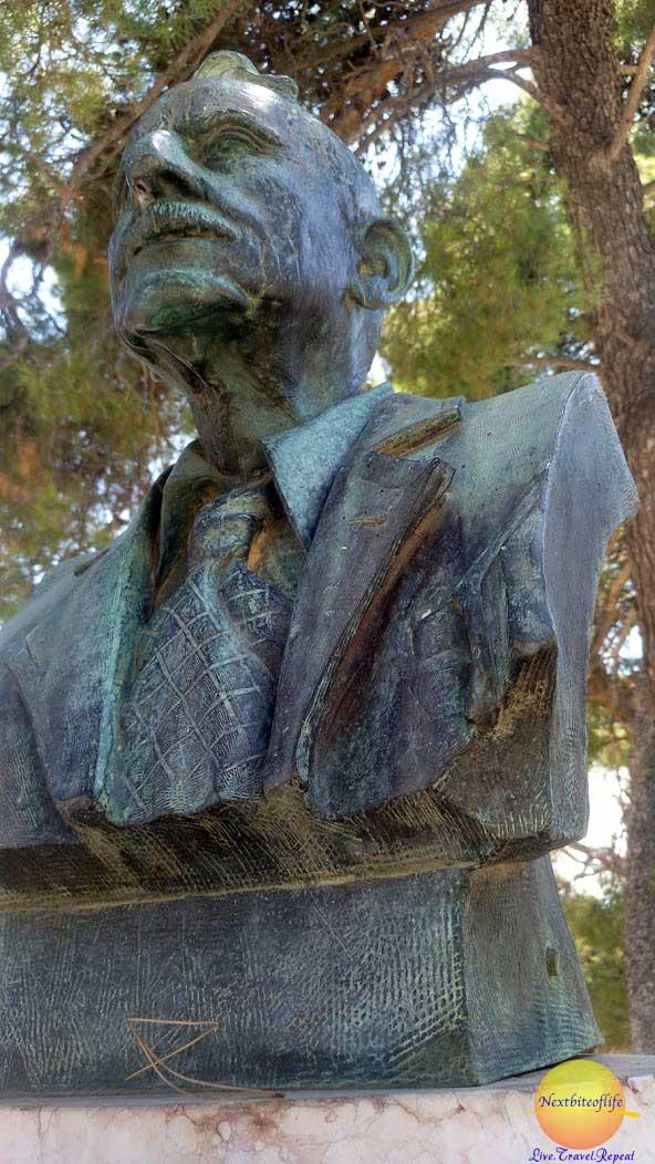 arthur evans bust knossos crete
