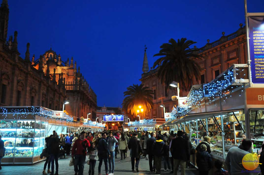 christmas market seville spain