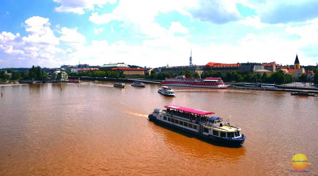 letna park prague view of vitara rivers and boats
