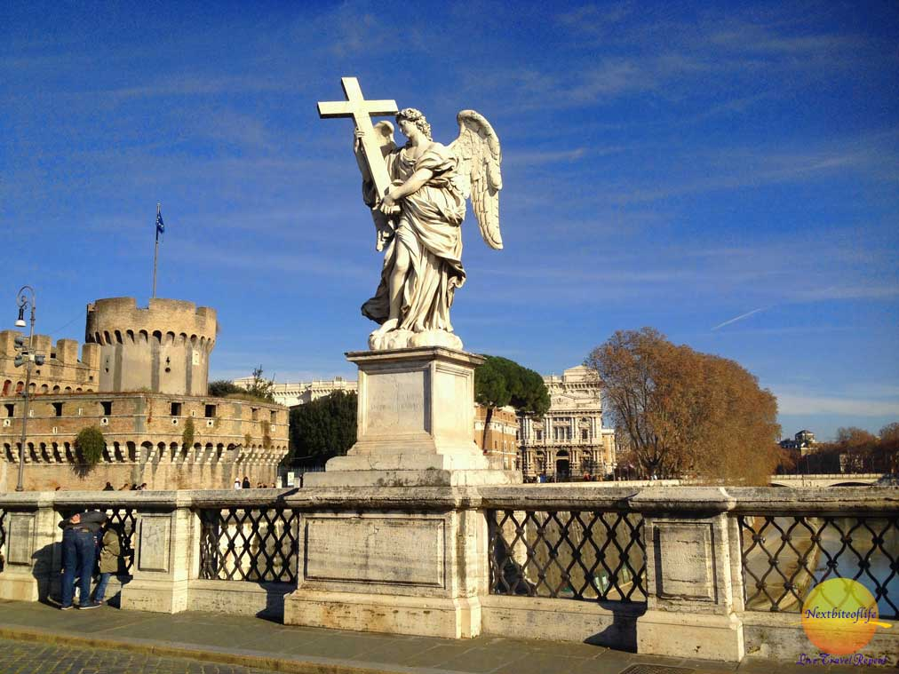 Castel San Angelo with angel on bridge