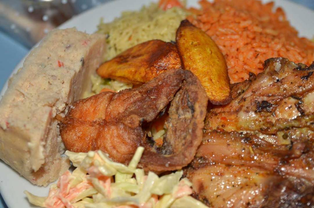 African food plate at wedding