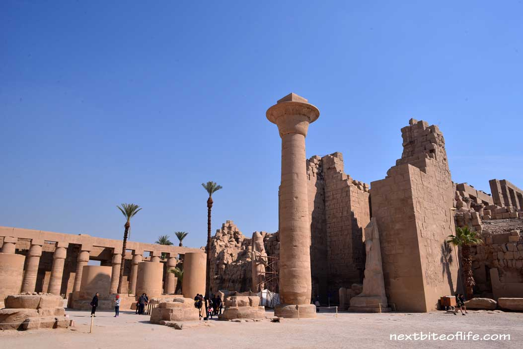 temple grounds in Luxor Egypt