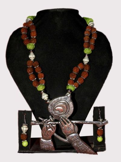 NextBuye Lord Krishna Flute Playing Designed Necklace 1