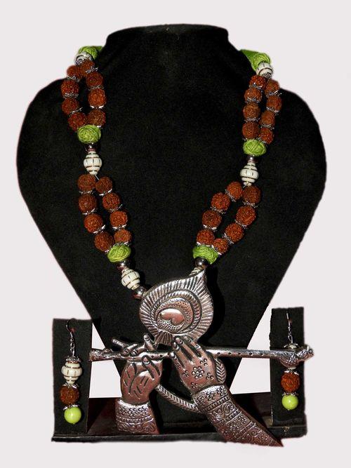 NextBuye Lord Krishna Flute Playing Designed Necklace 1