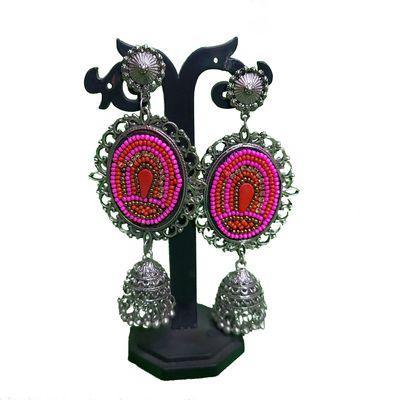 Nextbuye Beaded Fashion Earrings Pink